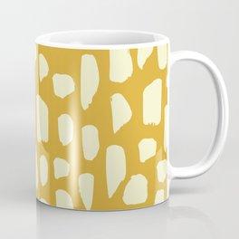 spot doodle_cream on mustard yellow Coffee Mug