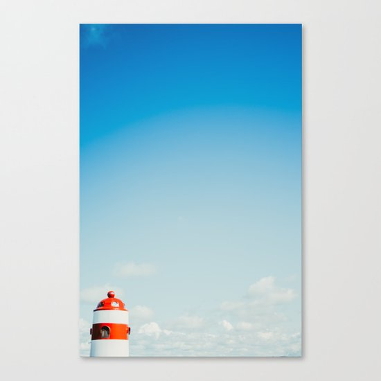 Red White Lighthouse Canvas Print