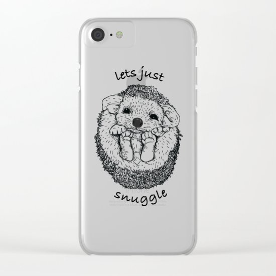 Hedgehog snuggle Clear iPhone Case
