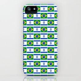 Mix of flag: Israel and brazil iPhone Case
