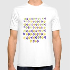 Triangle Relationship (I) Mens Fitted Tee White MEDIUM