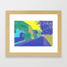Japanese Street Framed Art Print