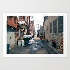 Trashy Alley Art Print