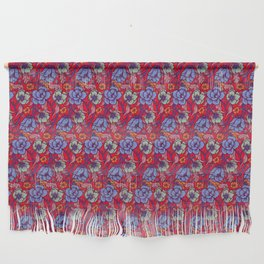 Red and blue Wall Hanging