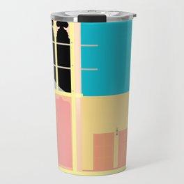 Wind-towers of Bastakiya by Dubai Doodles 006 Travel Mug