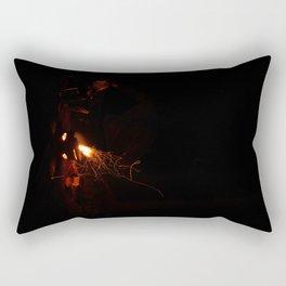 Late Night Fire Feels Rectangular Pillow