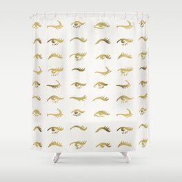 Mascara Envy – Gold Palette Shower Curtain