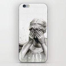 Weeping Angel Watercolor Painting iPhone & iPod Skin