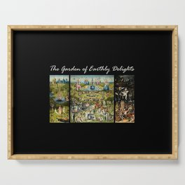 The Garden Of Earthly Delights Hieronymus Bosch Serving Tray