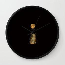 Korea style surf art series _ Moonlight surfer man Wall Clock