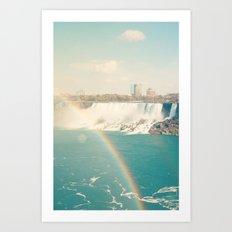 Niagara Falls - View of Buffalo, New York Art Print