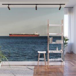 Cargo Ship Seascape Wall Mural