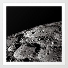 Terraced Wall Crater on the Lunar Limb Art Print