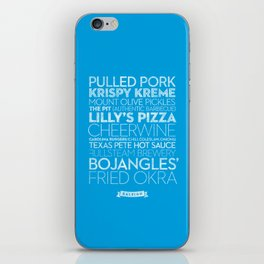 Raleigh — Delicious City Prints iPhone Skin