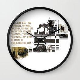Blow City Wall Clock