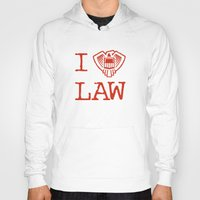 law Hoodies featuring Law Lover by Fanboy30