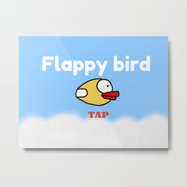 Flappy Bird Metal Print