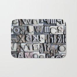 Letterpress Bath Mat