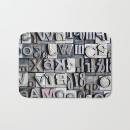 Letterpress Bath Mat