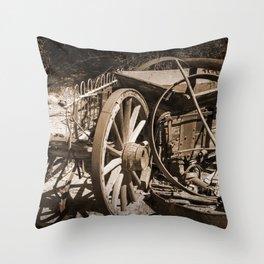 Broken Wagon Throw Pillow