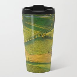 Huts in the Fields Travel Mug