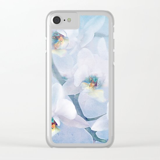 The mystery of orchid(snowy) Clear iPhone Case