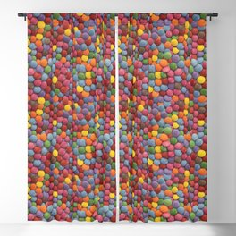 Smarties Milk Chocolate Candy Pattern Blackout Curtain