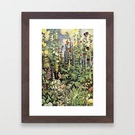 12,000pixel-500dpi - Jessie Willcox Smith - A Child's Garden Of Verses - Digital Remastered Edition Framed Art Print
