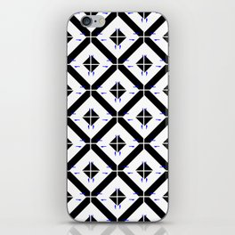 Graphic tile blk & wht iPhone Skin