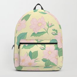 Summer Days Yellow Floral Print Backpack