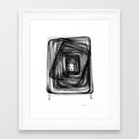 no face Framed Art Prints featuring Face by KRNago