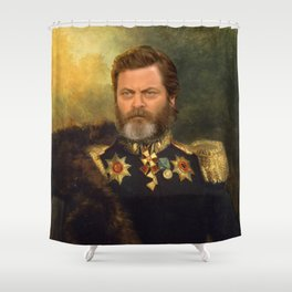 Nick Offerman Classical Painting Photoshop Shower Curtain