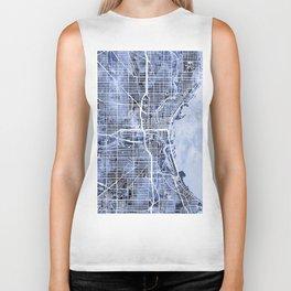 Milwaukee Wisconsin City Map Biker Tank