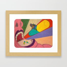 """Coming in for a Landing"" Framed Art Print"