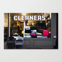 west village cleaners Canvas Print