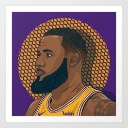 King LAbron Art Print