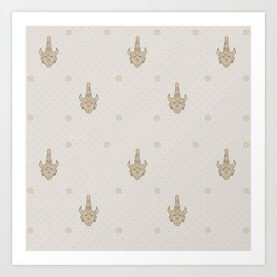 samulet pattern Art Print