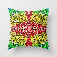 cross Throw Pillows featuring Cross by Bruce Stanfield