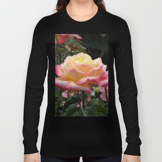 Rose in the Rain Long Sleeve T-shirt