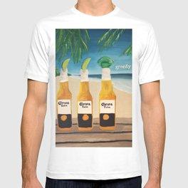 Greedy - Corona Ad Painting T-shirt