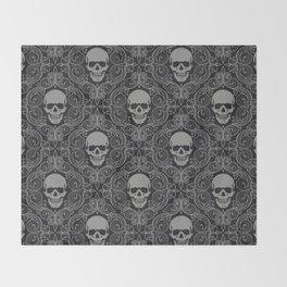 skull texture Throw Blanket