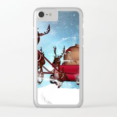 Christmas, funny skeleton Clear iPhone Case