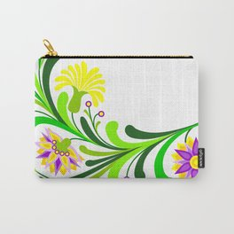 Abstract floral decoration Carry-All Pouch