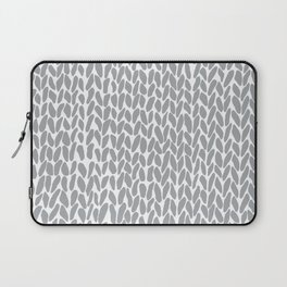 Hand Knit Zoom Grey Laptop Sleeve