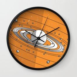 Moons of Saturn Wall Clock