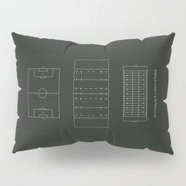 ..just the evolution & de-evolution of football Pillow Sham