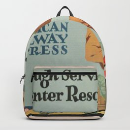 Vintage poster - American Railroads Backpack