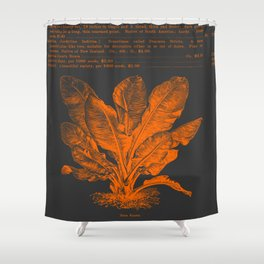 Banana Plant Illustration Shower Curtain