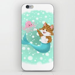 Bubbly Purrmaid iPhone Skin