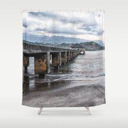 Hanalei Pier Kauai  Shower Curtain